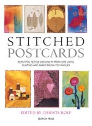 """Stitched Postcards"" edited by Christa Rolfe OUT OF STOCK"
