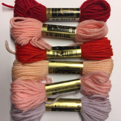 Anchor Tapestry Wool 10m skein - Pack of 6 assorted colours