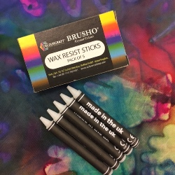 Colourcraft Brusho Pack of 5 Wax Resist Sticks