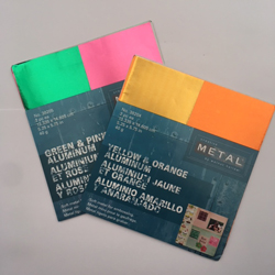 Creative Metal set of 2 packs of coloured soft aluminium metal sheets (2 packs left)