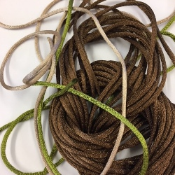 Weavecord Satin Pack - 8m brown, 2 x 1m assorted (1 left)