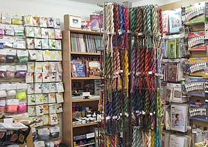 View of the Rainbow Silks shop products