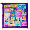 Flower Patches -  Ideen habotai 8 square ready-outlined silk scarf  90 x 90cm (1)