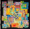 Patch -  Ideen habotai 8 square ready-outlined silk scarf  90 x 90cm(4)