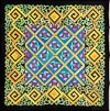 Fascination -  Ideen habotai 8 square ready-outlined silk scarf 74 x 74cm (2)