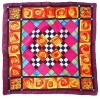 Rose Quilt -  Ideen habotai 8 square ready-outlined silk scarf (2)