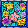 Ideen ready-outlined square silk scarf 55 x 55cm - Bouquet NEW