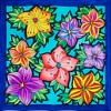 Bouquet -  Ideen habotai 8 square ready-outlined silk scarf (1)
