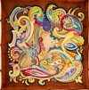 Paisley -  Ideen habotai 8 square ready-outlined silk scarf (7)