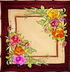 Rose -  Ideen habotai 8 square ready-outlined silk scarf (2)