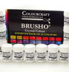 Colourcraft Brusho Crystal Colours Starter Pack of 24