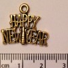 Happy New Year charm - gold (31)