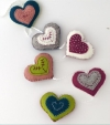 Corinne Lapierre kit - Vintage Heart Garland - makes 6