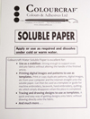 Colourcraft Cold Water Soluble Paper