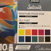 Pebeo Setasilk silk paint Collection Case of 10 x 45ml colours NEW