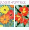 H Dupont Ready-outlined Greetings Card Set - Poppy NEW