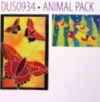 H Dupont Ready-outlined Greetings Card Set - Animals NEW