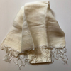 Eri/Peace Silk Hand-woven Long Scarf - Medium-weight Natural - 80 x 190cm NEW (6 in stock)