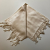 Eri/Peace Silk Hand-woven Long Scarf - Natural with small woven design - 70 x 200cm NEW (4 in stock)
