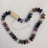 String of flower/bud shaped crystal glass beads (1 only)