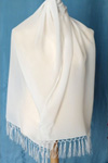 Crepe Satin 12 Long Scarf 180 x 45cm with silk fringing NEW