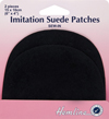 Hemline Imitation Suede Patches Black - pack of 2 sew-in (3)