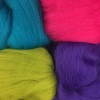 Christmas Jewels Pack of 4 colours Dyed 19.5mic Fine Merino Wool tops NEW