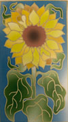 Silk Greetings Card - Sunflower NEW