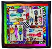 Fashion PWG square silk scarf