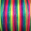 EFCO Bright Rainbow Weavecord Satin by the metre - 2mm diam