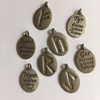 Pack of 8 metal Runes charms - double-sided (5 LEFT)