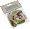 Assorted Christmas Ribbon Pack - 10 x 1m