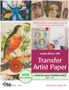 Lesley Riley's TAP Transfer Artist Paper pack of 5 sheets NEW FORMULATION - PREORDER DUE DEC/JAN
