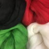 Christmas Basics Pack of 4 colours Dyed 19.5mic Fine Merino Wool tops